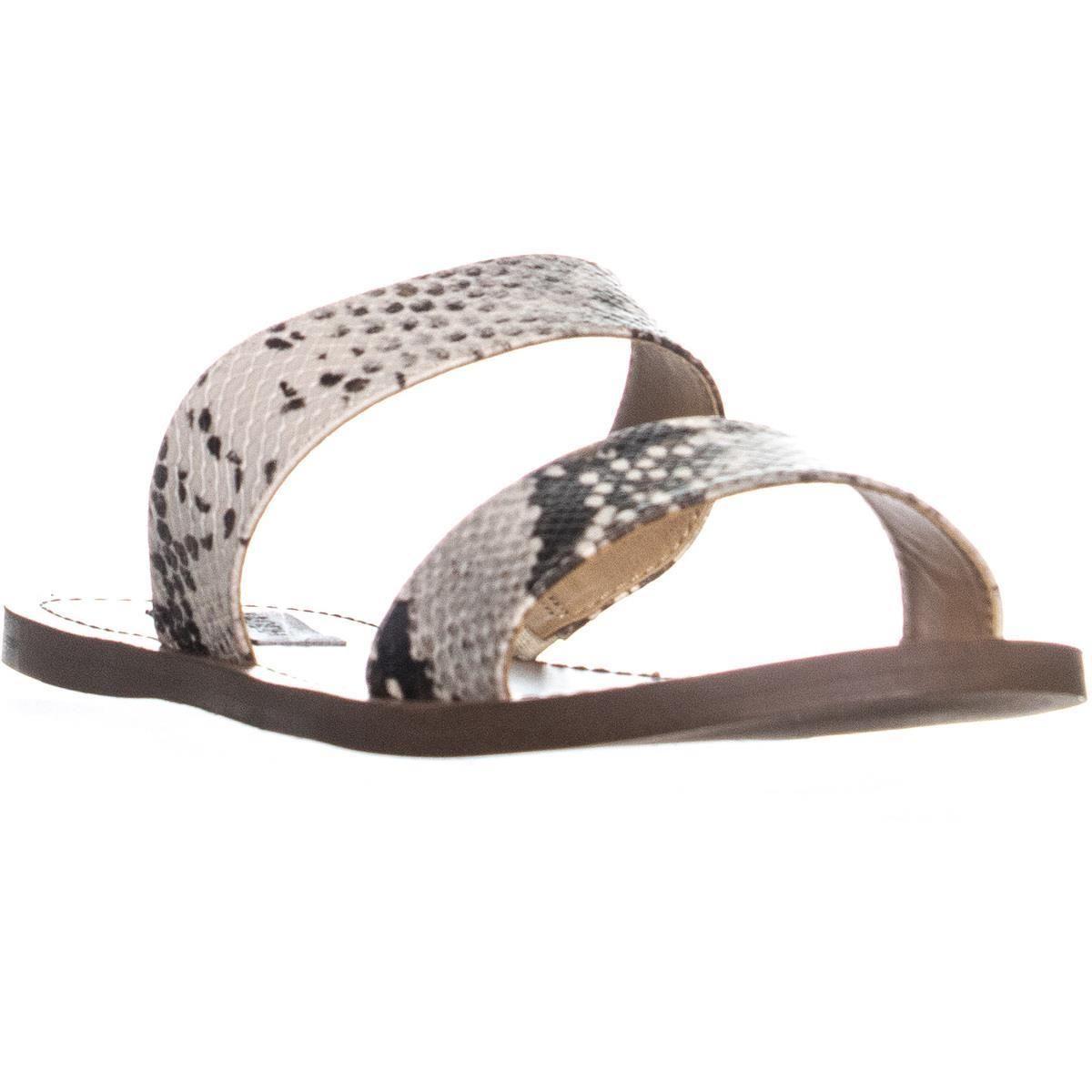 165b8946601 Steve Madden Rage Double Strap Slide Sandals in Natural - Lyst