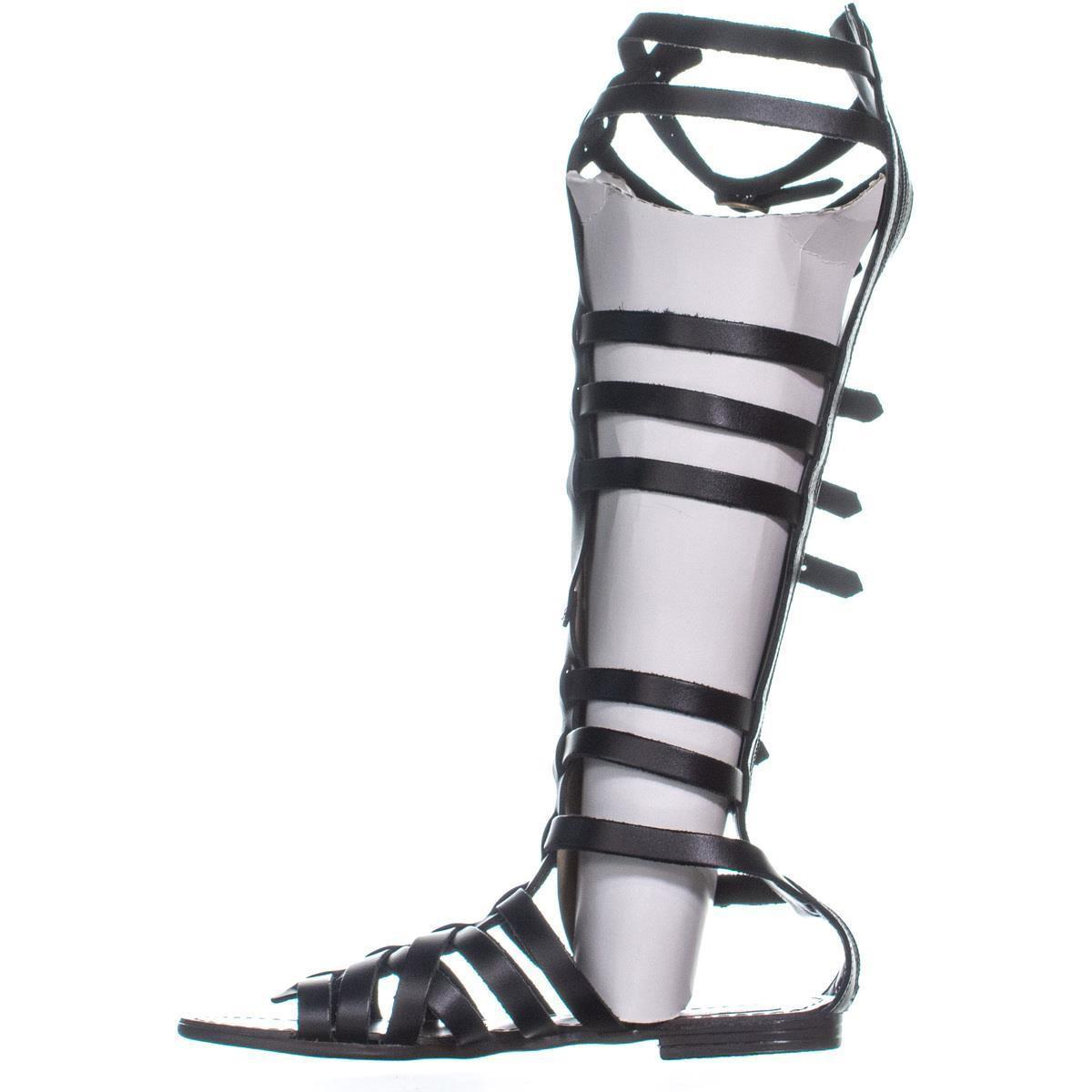 08bb9b1375ec Lyst - Steve Madden Sparta Gladiator Sandals in Black