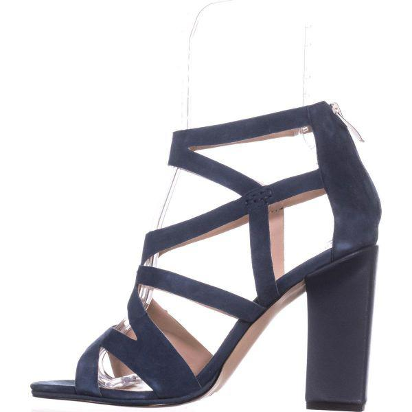 ba0211450efc Lyst French Connection Isla Stry Heel Sandals In Blue