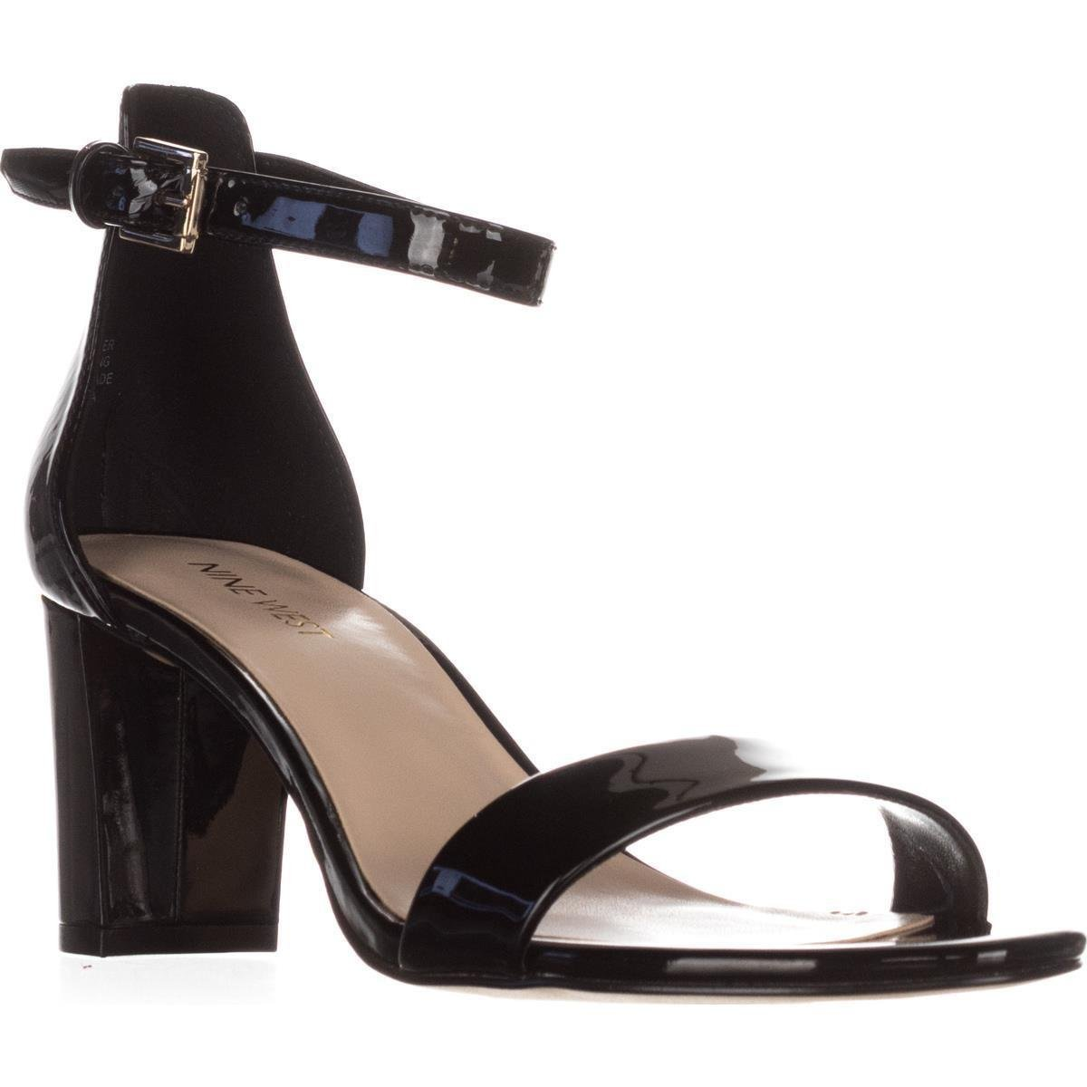 1d951d0400c Lyst - Nine West Pruce Ankle Strap Sandals in Black - Save 17%