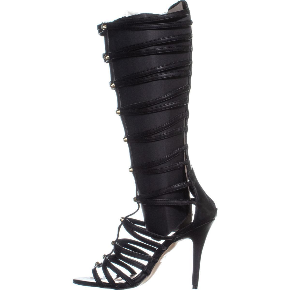 a299473d5326 Lyst - Madden Girl Brazen Knee High Gladiator Sandals in Black