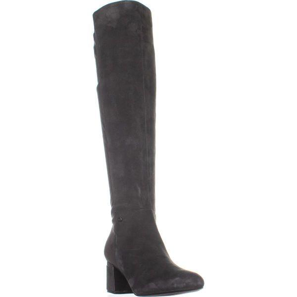 14c7918e05e Lyst - DKNY Cora Low-heel Knee High Boots in Gray