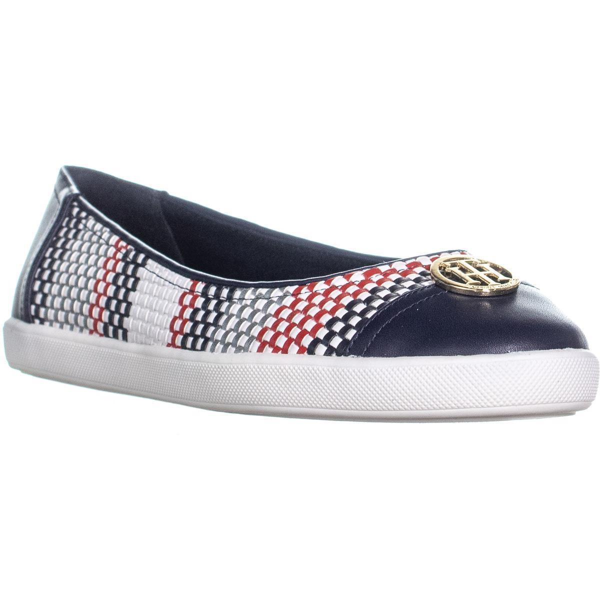 e1369a22c3fc9 Lyst - Tommy Hilfiger Vinnly Slip On Flats in Blue