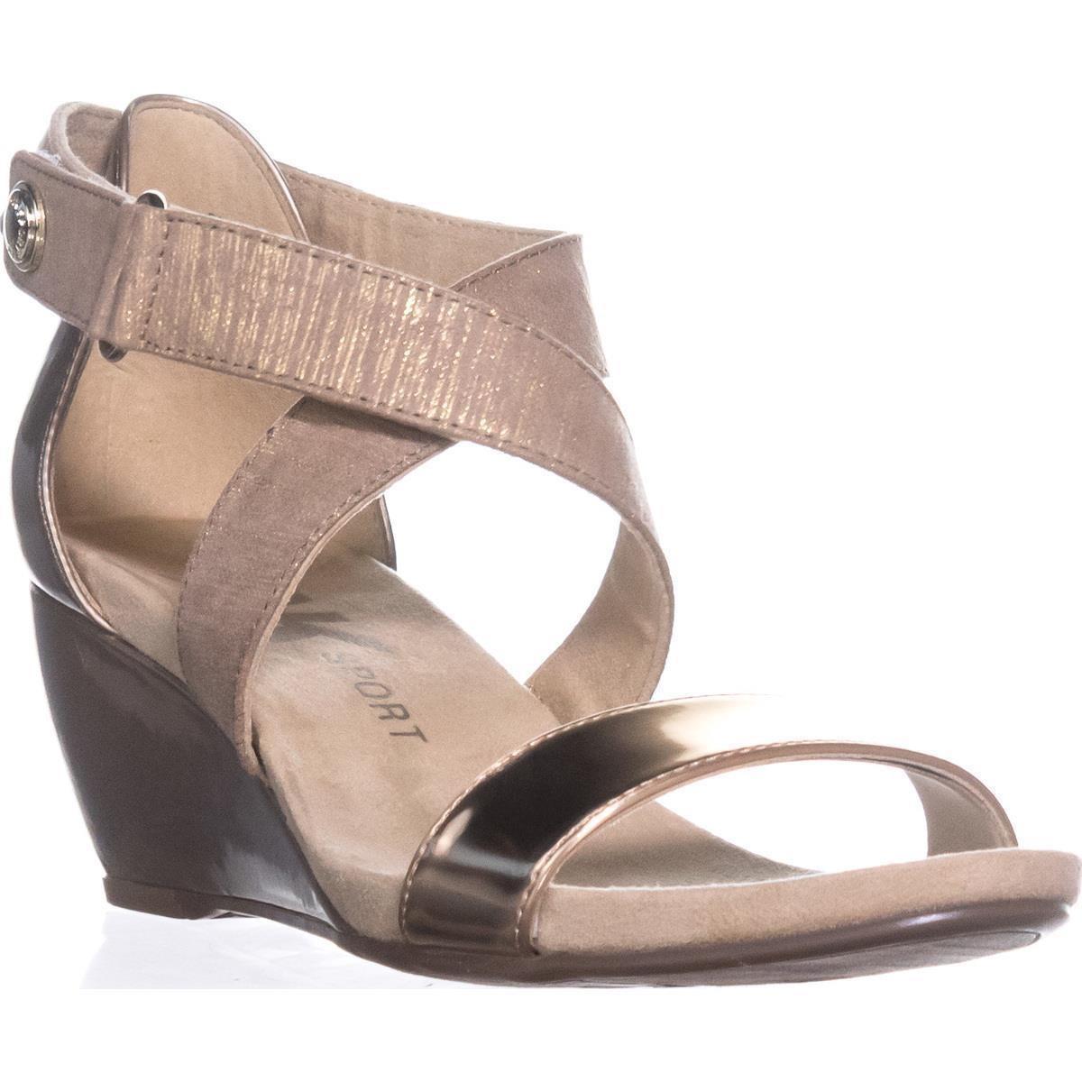 84317d82cf734b Lyst - Anne Klein Sport Crisscross Wedge Sandals