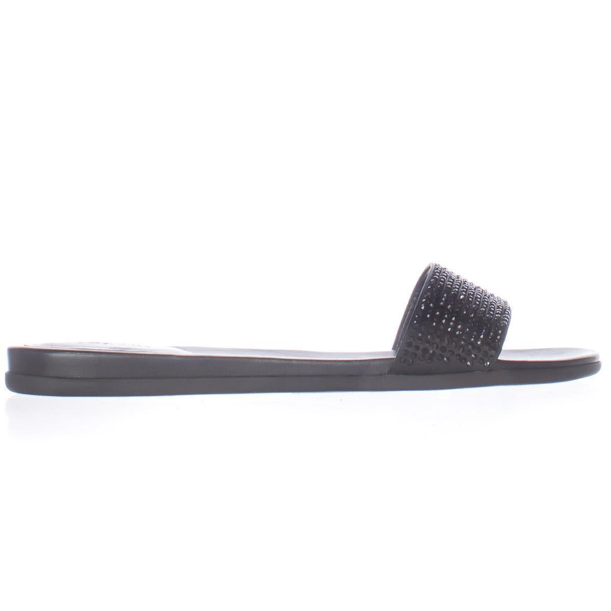 b7a6a2e58eb5 Lyst - Michael Kors Michael Eleanor Studded Slide Sandals in Black