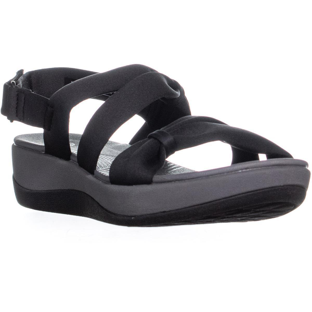 eb4962d255ab Clarks Cloudsteppers By Arla Mae Bow Sandals in Black - Lyst