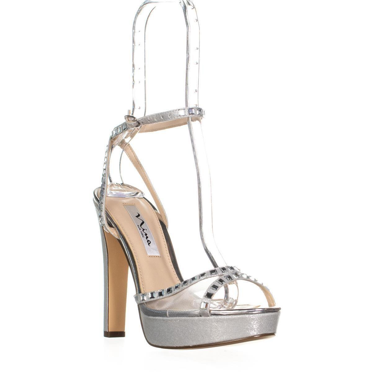 9fe4f24a8ae Lyst - Nina Myrna Platform Ankle Strap Dress Sandals in Metallic ...