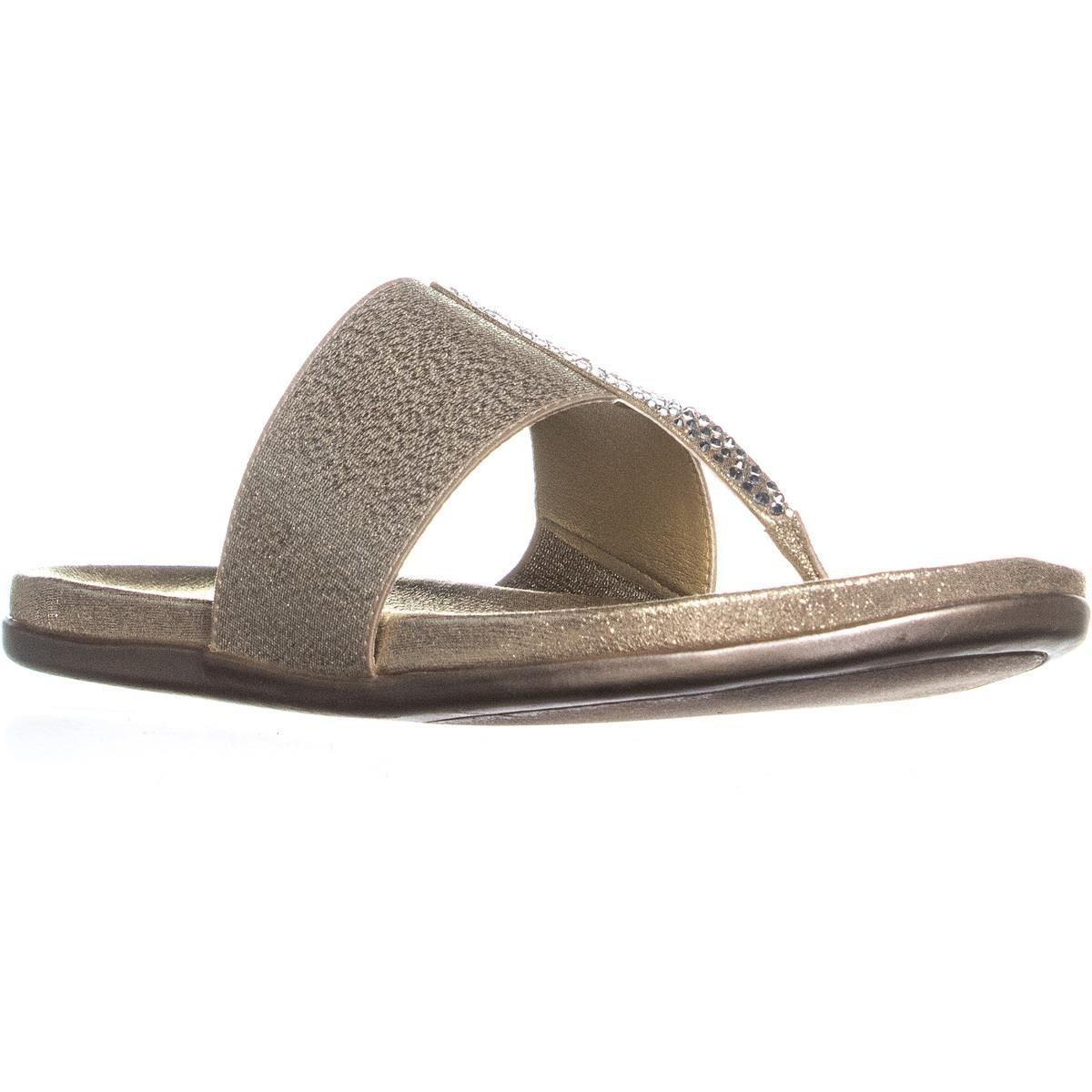 379eda9e2887 Lyst - Kenneth Cole Reaction Slim Stand Thong Sandals in Metallic