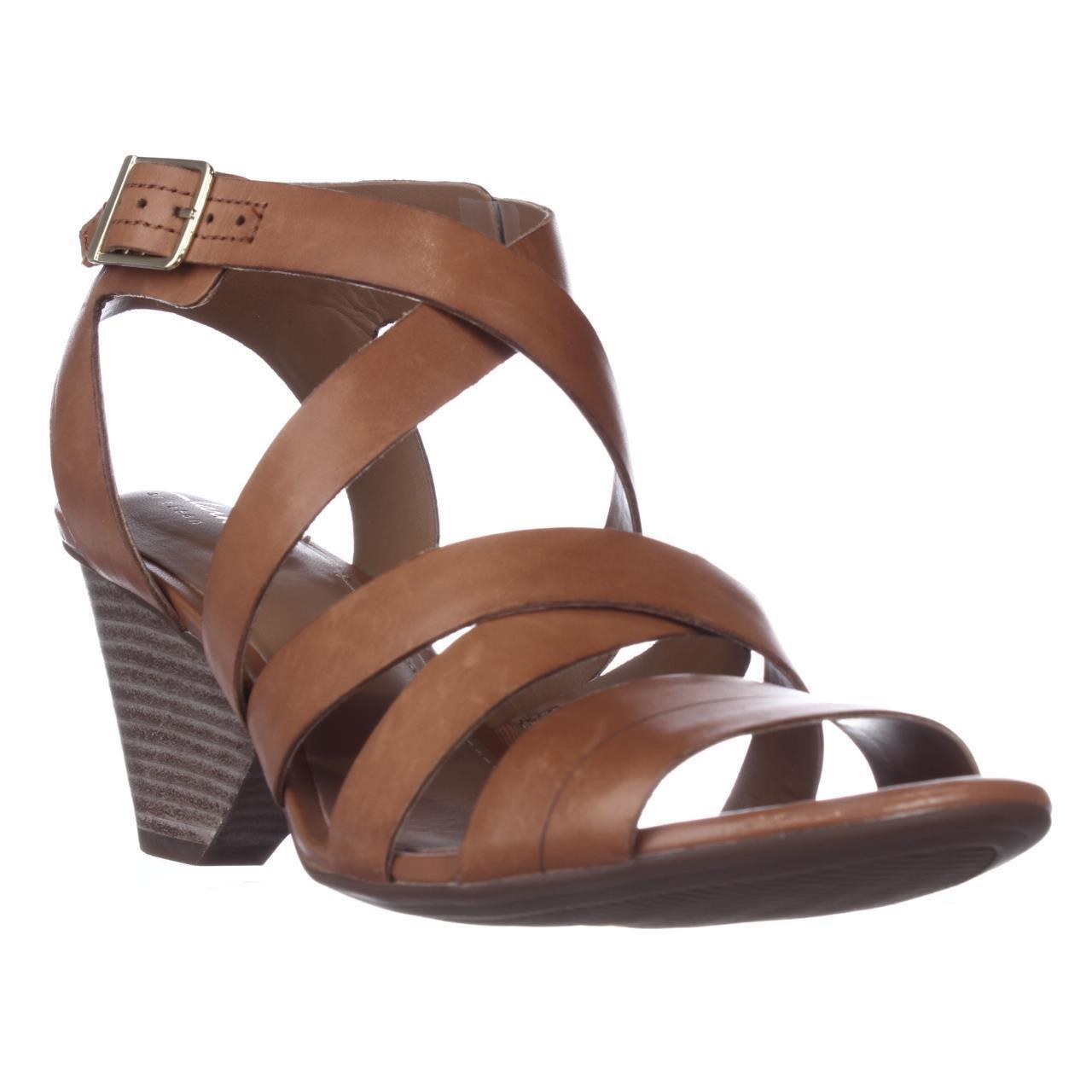 d7290e6951 Lyst - Clarks Ranae Estelle Strappy Sandals, Cognac in Brown
