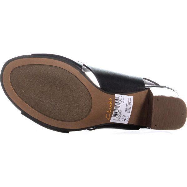 9bea8eeb732d Lyst - Clarks Deva Janie Block Heel Sandals in Black