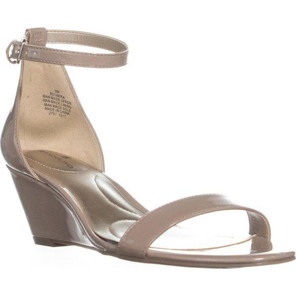 80e15113e834 Lyst - Bandolino Omira Wedge Ankle Strap Sandals in Natural - Save 12%