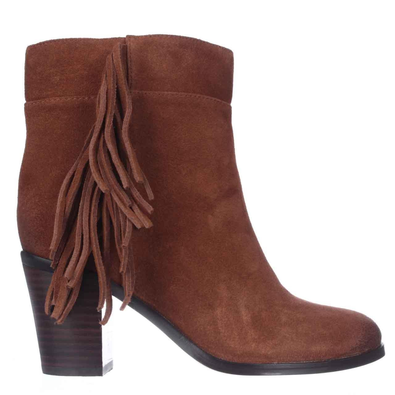 kenneth cole alana fringe ankle boots in brown rust lyst