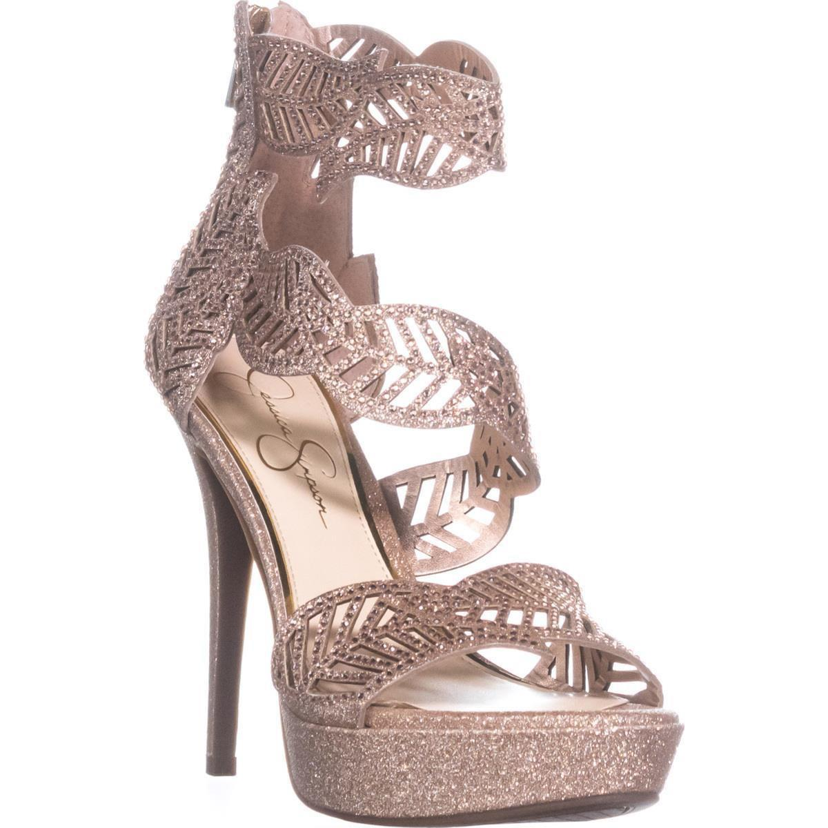a3cdfca24340 Lyst - Jessica Simpson Bonilynn Platform Heeled Sandals in Pink