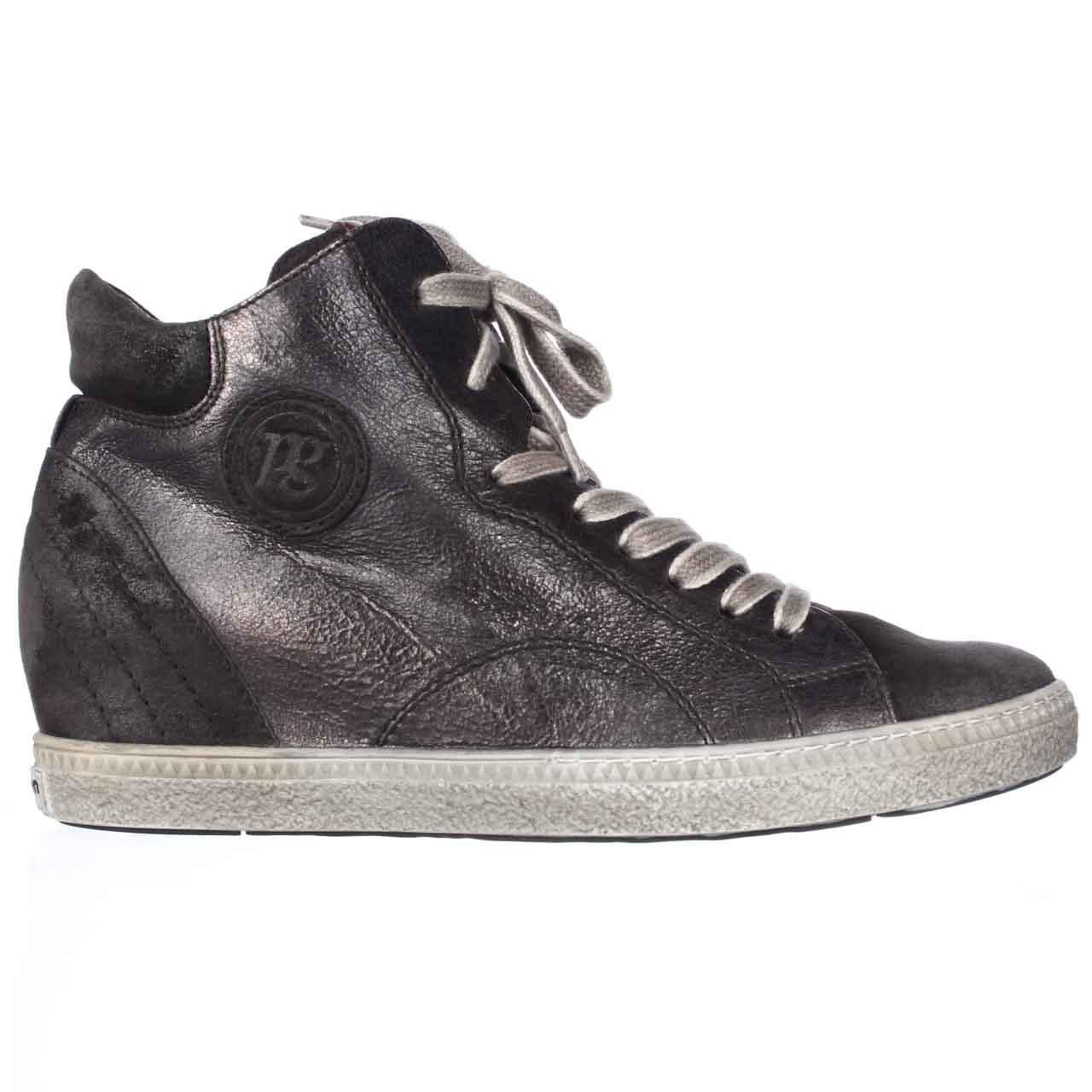 paul green palma wedge fashion sneakers in gray lyst. Black Bedroom Furniture Sets. Home Design Ideas