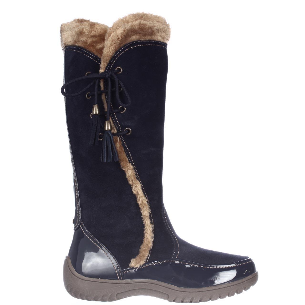 sporto side winder waterproof cold weather boots in blue