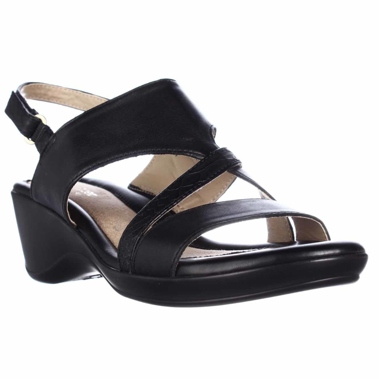 Naturalizer Tender Wedge Slingback Sandals In Black Lyst