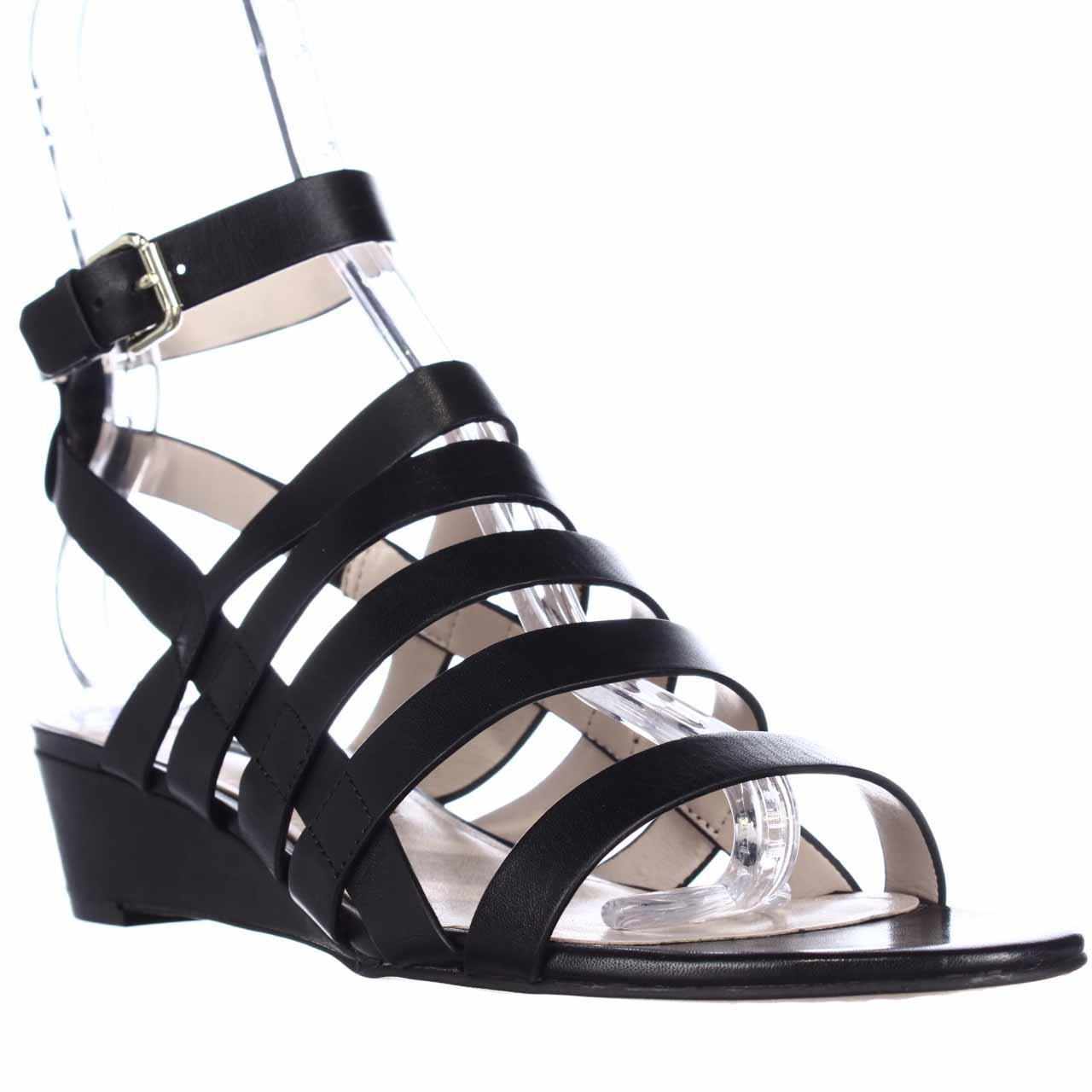 Lyst French Connection Winona Strappy Wedge Sandals In Black
