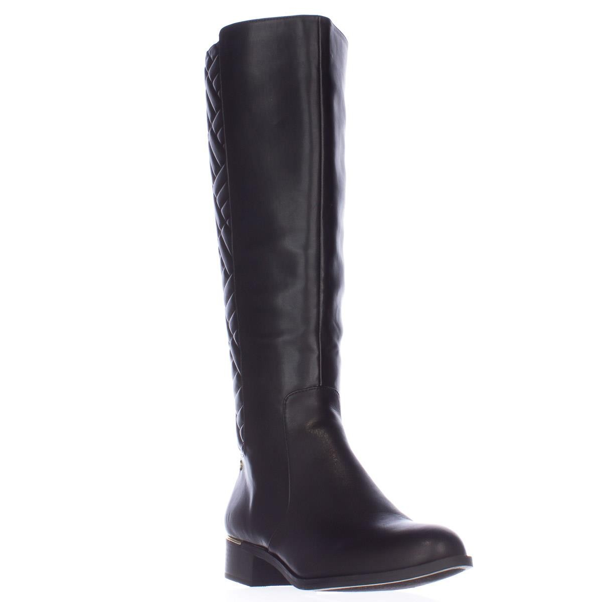 Lyst Calvin Klein Garcella Quilted Riding Boots In Black