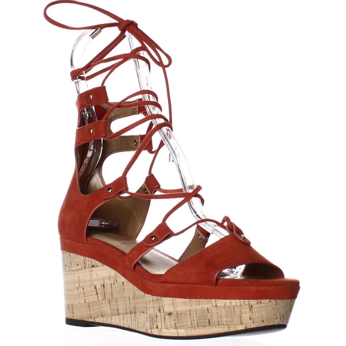Lyst Coach Barkley Platform Wedge Lace Up Sandals