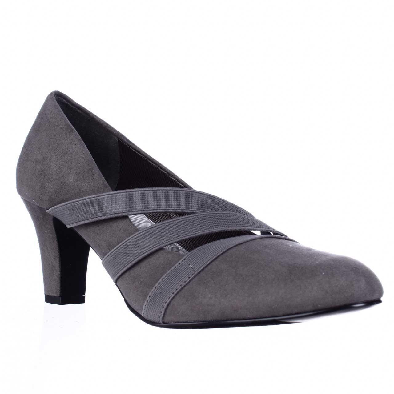 Easy Street Camillo Comfort Strappy Dress Pumps In Gray Lyst