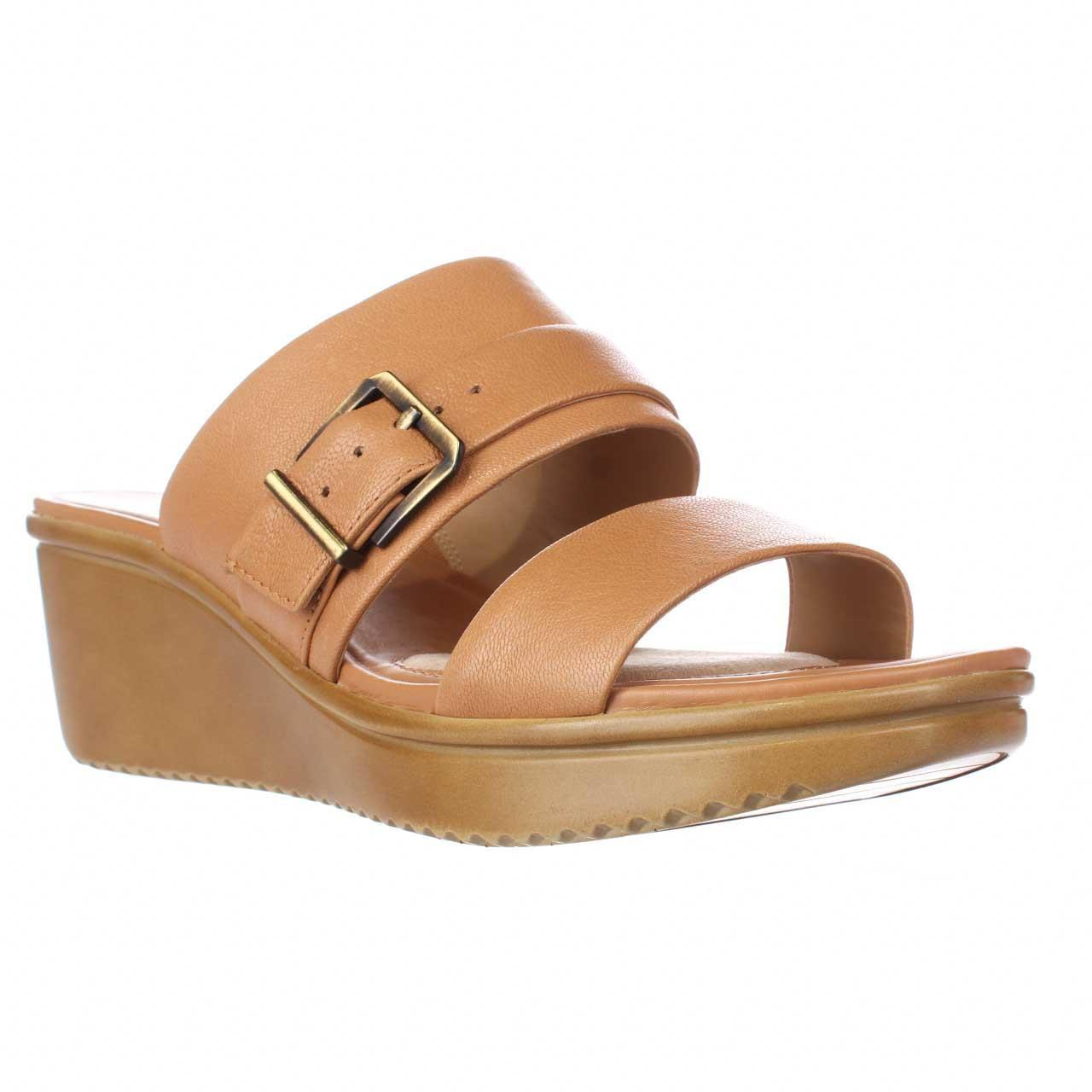 05f0ee455cab Lyst - Naturalizer Aileen Wedge Slide Sandals in Brown