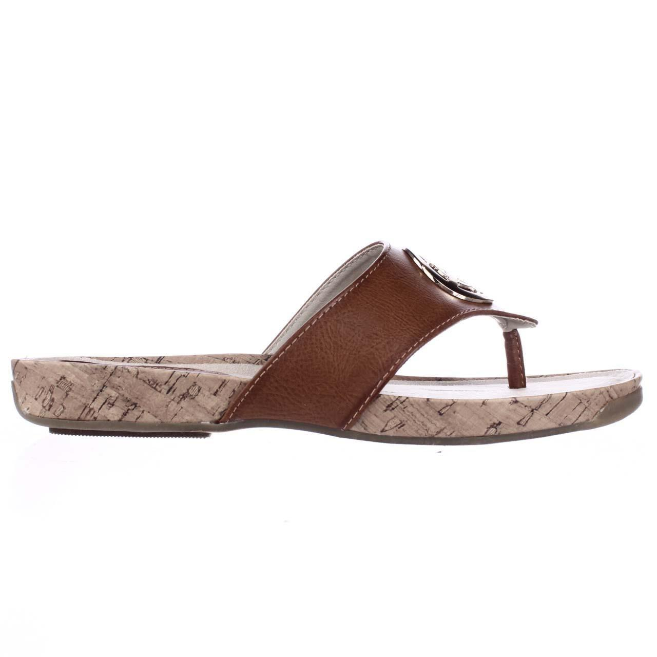Lyst Rialto Calista Flat Thong Sandals In Brown