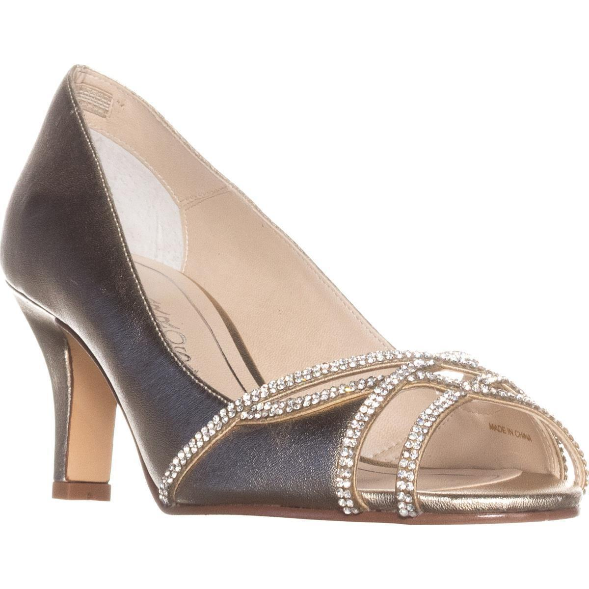 13c9d69c89e Lyst - Caparros Eliza Sparkle Peep Toe Dress Heels in Metallic