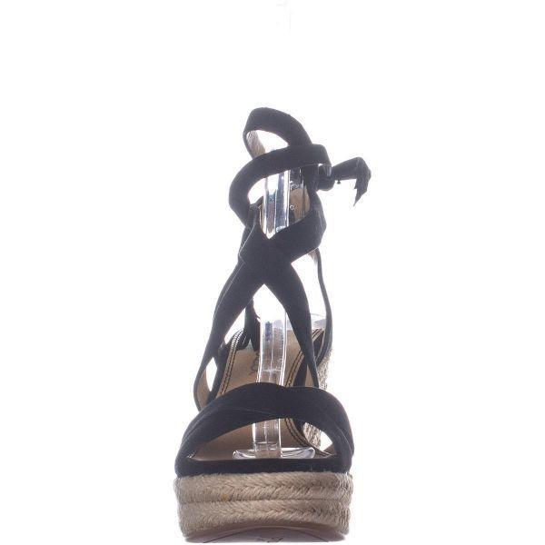 15e031bb9ff Splendid - Black Janice Espadrille Wedge Strappy Sandals - Lyst. View  fullscreen