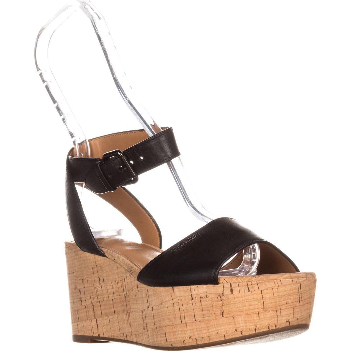303de29c1d04 Lyst - Coach Becka Platform Ankle Strap Sandals in Black