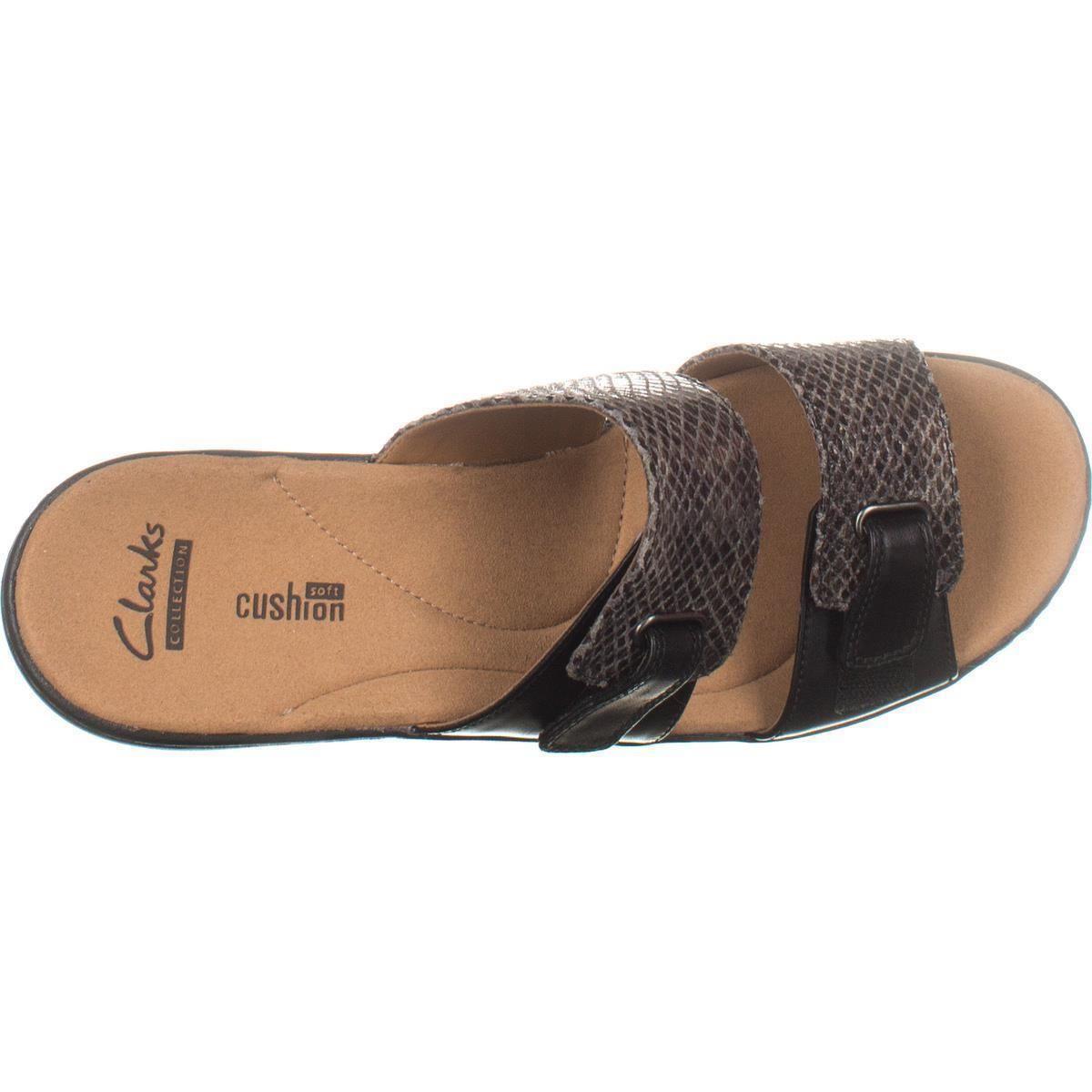 f5de3aec9fec Clarks - Black Delana Fenela Comfort Wedge Sandals - Lyst. View fullscreen