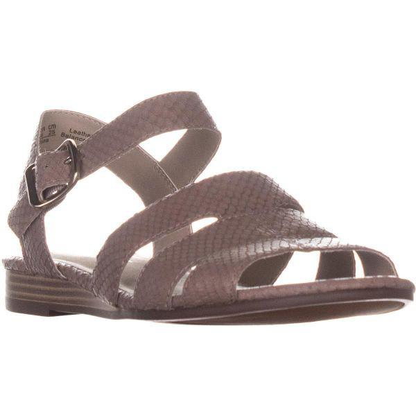 39f9ad0c2210 Naturalizer Kaye Flat Sandals in Gray - Lyst