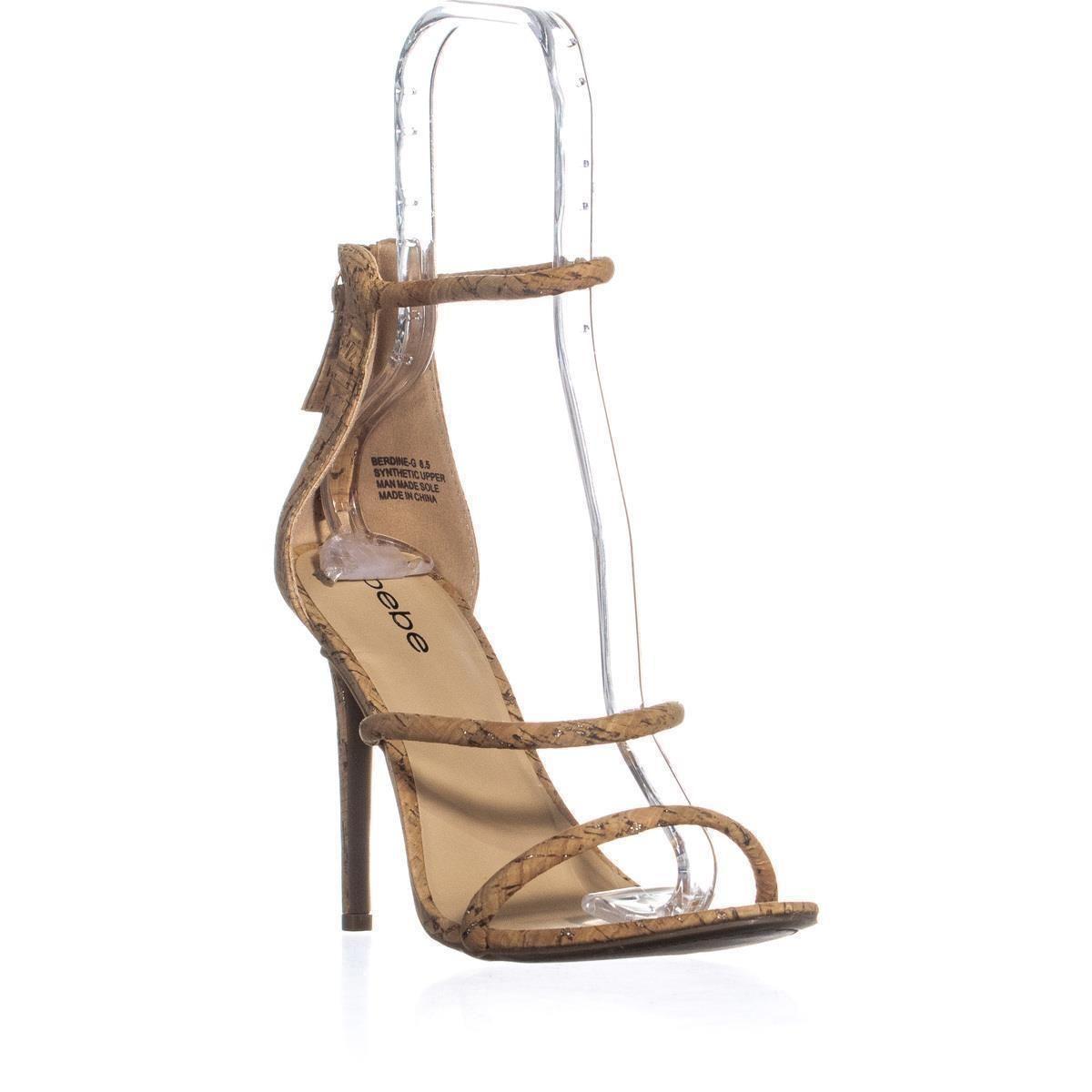 eb059b9f177 Lyst - Bebe Berdine Strappy Dress Sandals in Metallic