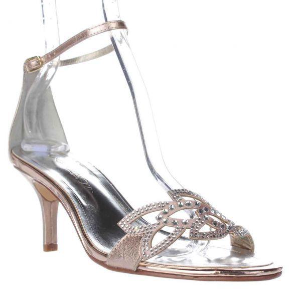 c5463c4d3575 Lyst - Caparros Cabaret Ankle Strap Evening Sandals in Metallic ...