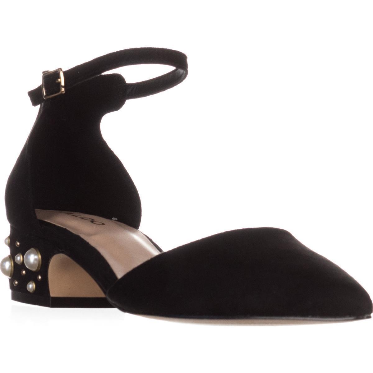 e71c29d8a772 Lyst - ALDO Wiliwiel Ankle-strap Low-heel Pumps in Black
