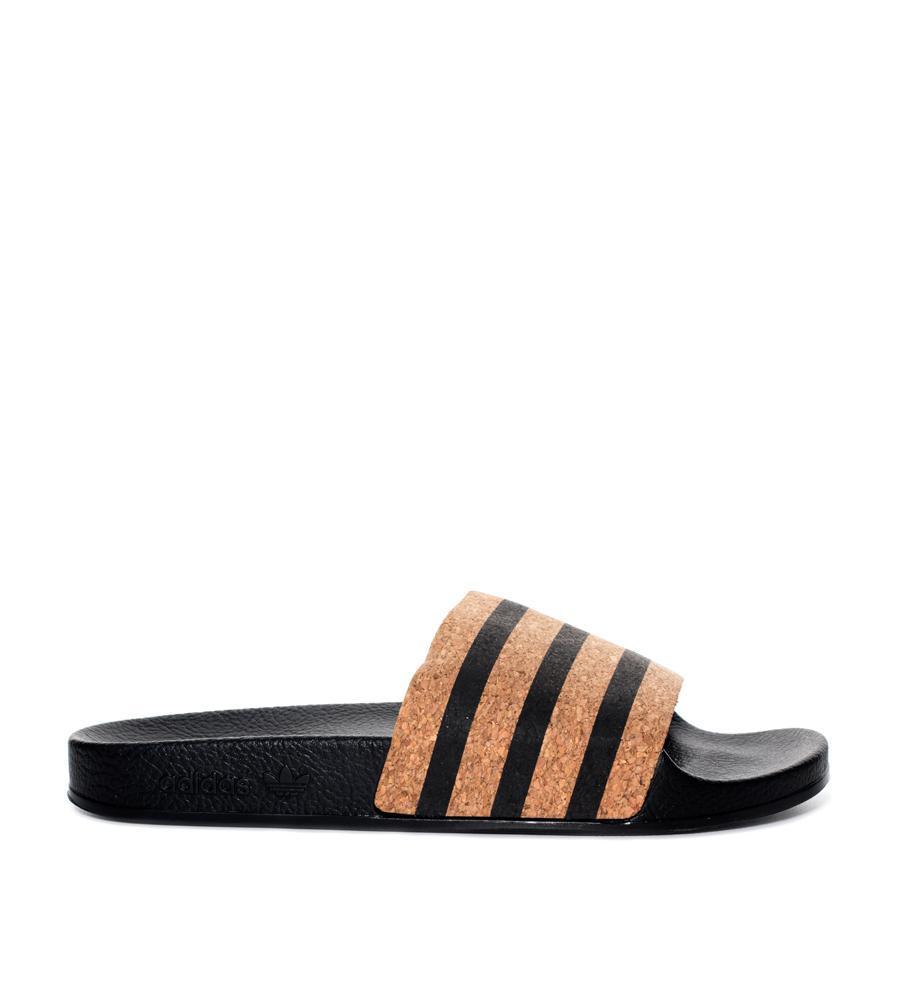 d2ab87559b886 adidas Adilette Slide Cork in Black - Save 38% - Lyst