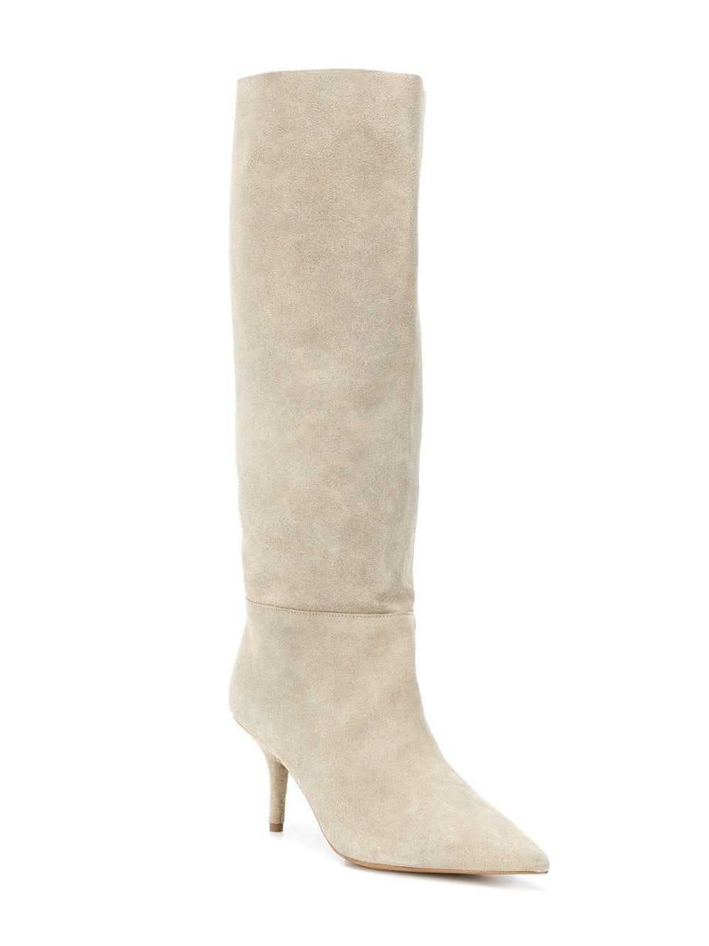0de08a328fc Yeezy Knee-high Boots in Natural - Save 8.867924528301884% - Lyst