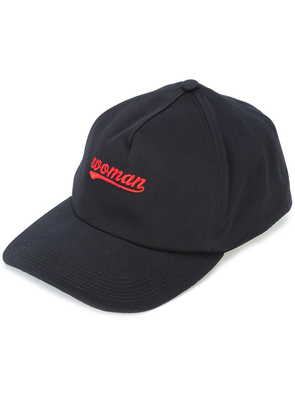 Woman Logo Cap in Black Off-white xKpYBGYB3r