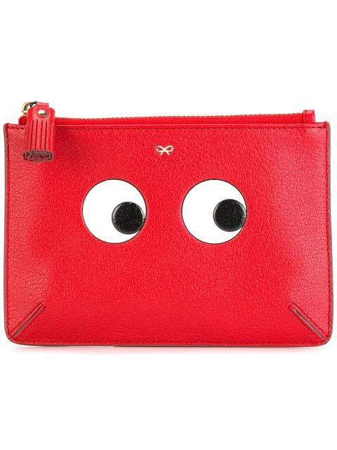 Lyst Anya Hindmarch Loose Pocket Small Eyes Purse In Red