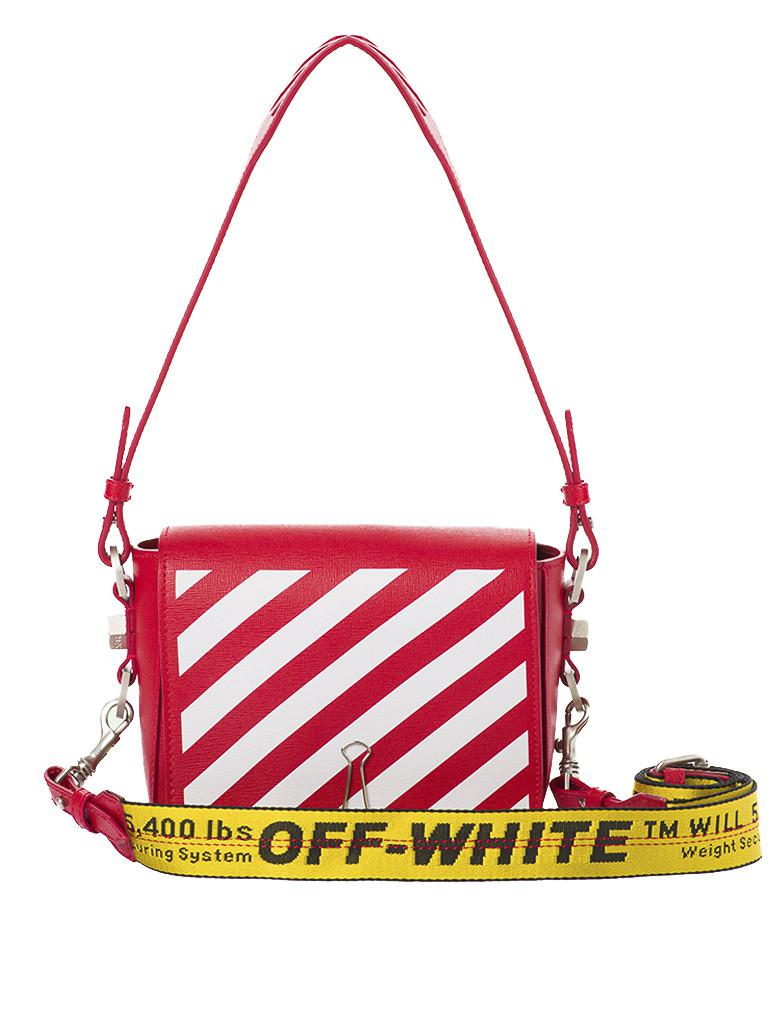 4240d8788892 Lyst - Off-White C O Virgil Abloh Stripes Binder Clip Shoulder Bag ...