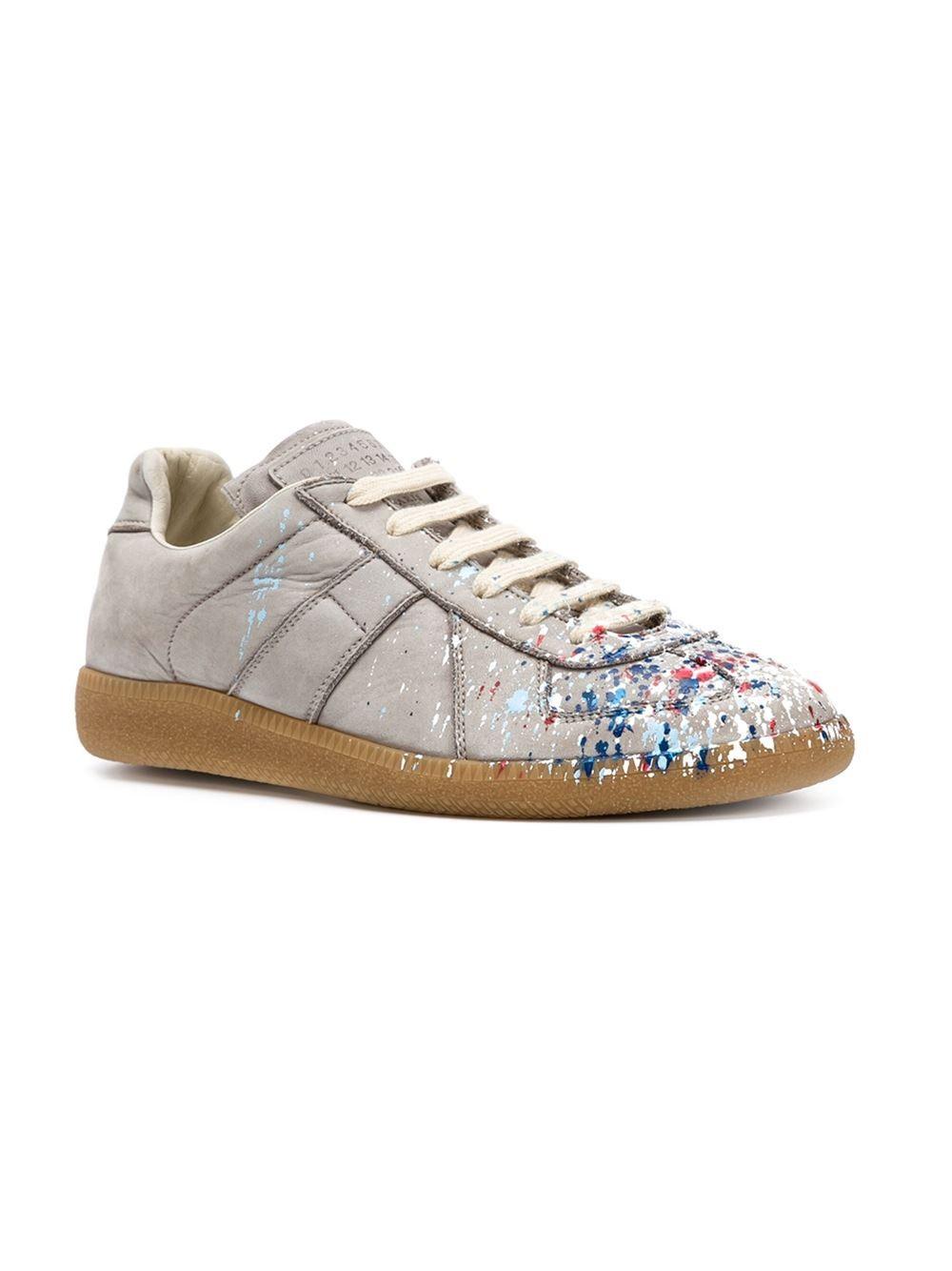 Maison margiela 'replica' Sneakers in Beige | Lyst