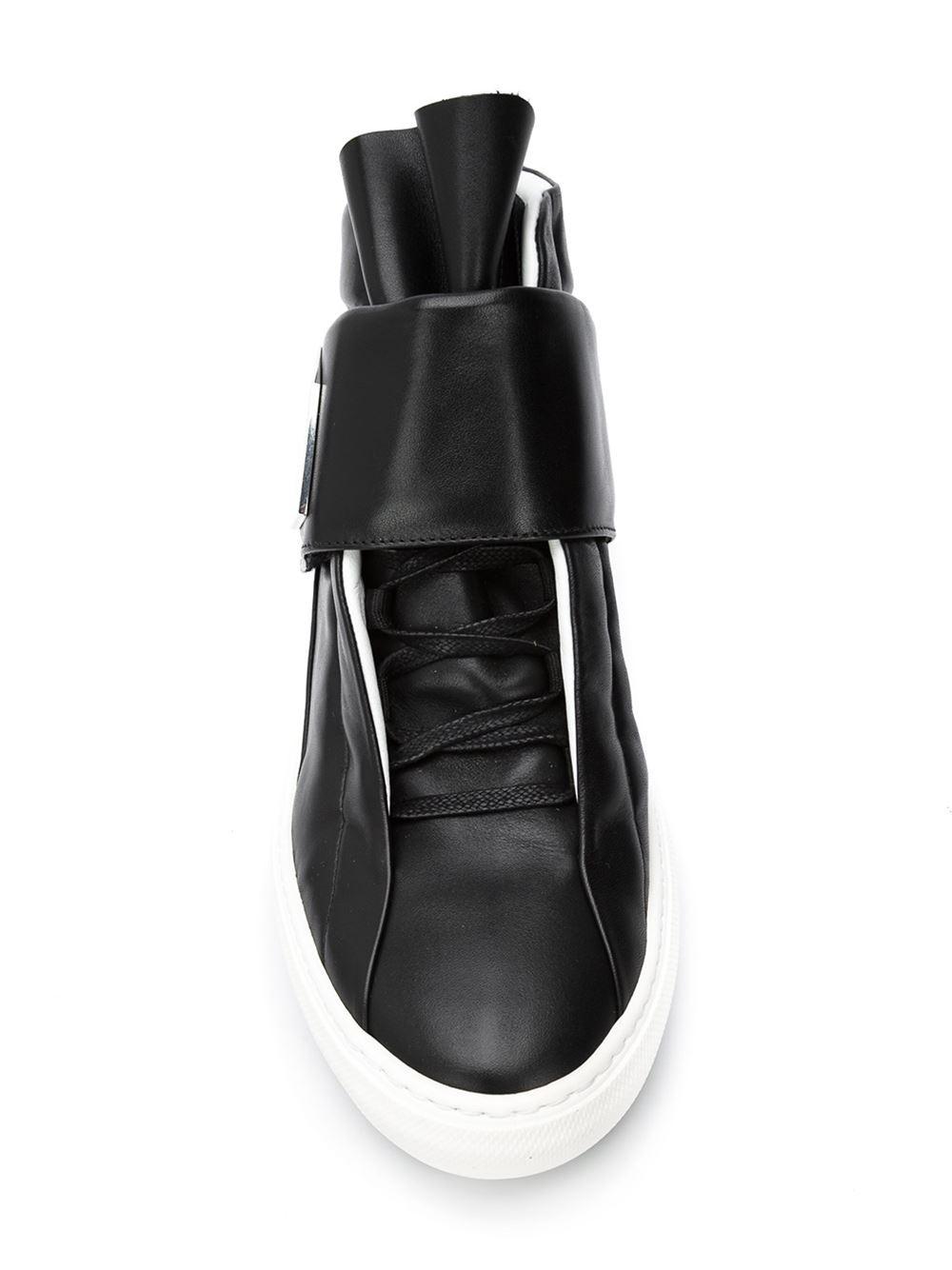 pierre hardy 39 magic 39 hi top sneakers in black for men lyst. Black Bedroom Furniture Sets. Home Design Ideas