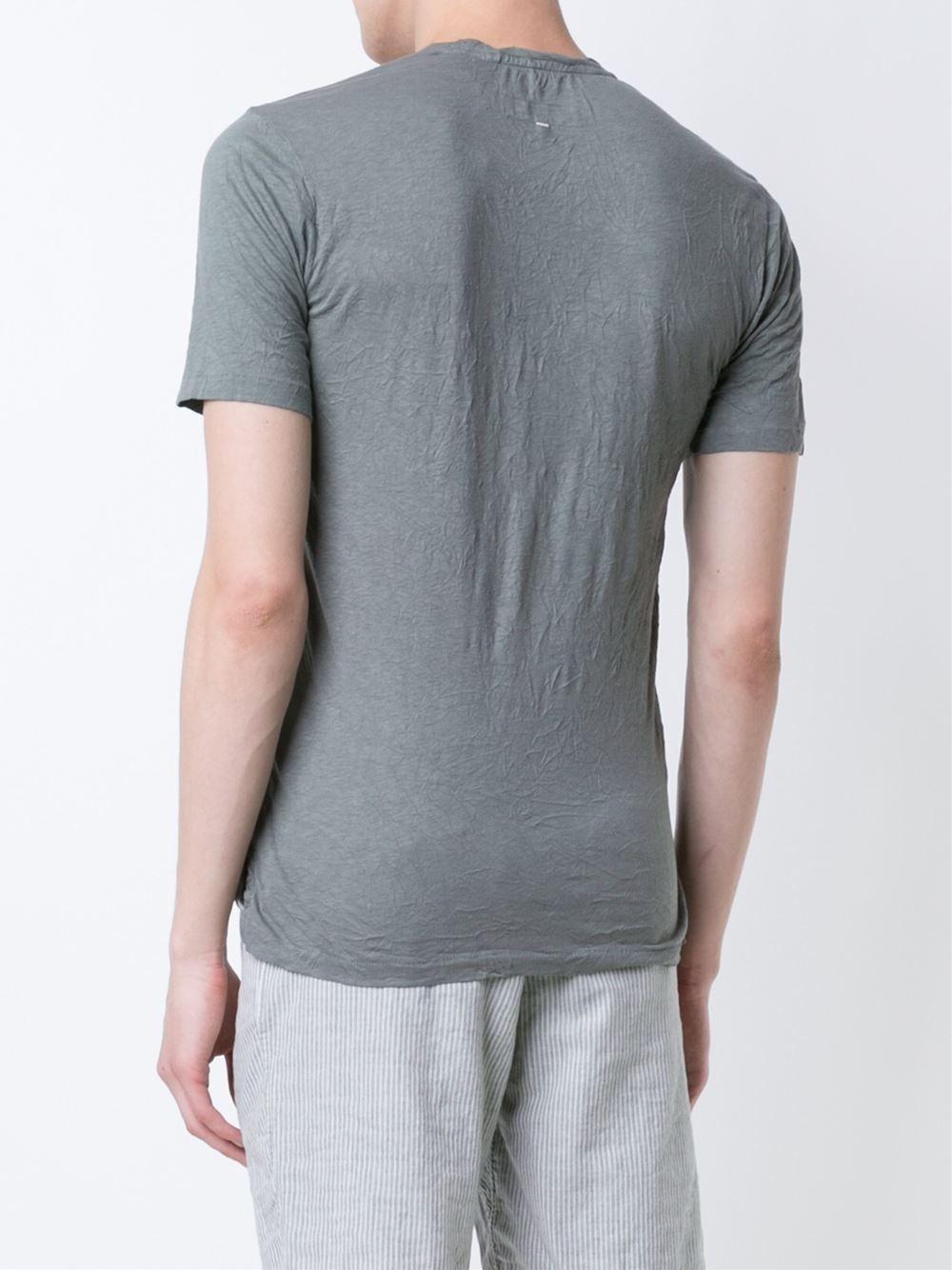 Rag bone crinkled t shirt in gray for men lyst for Rag and bone t shirts