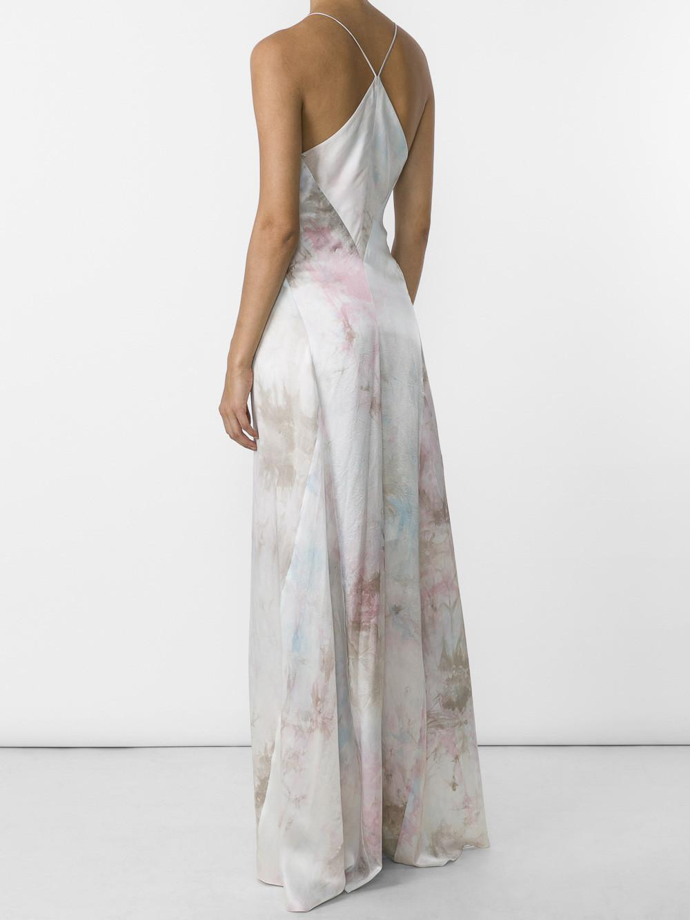 Cheap Buy Tie-dye V-neck sleeveless silk-satin gown Galvan Buy Cheap For Nice wnH7aOZw6