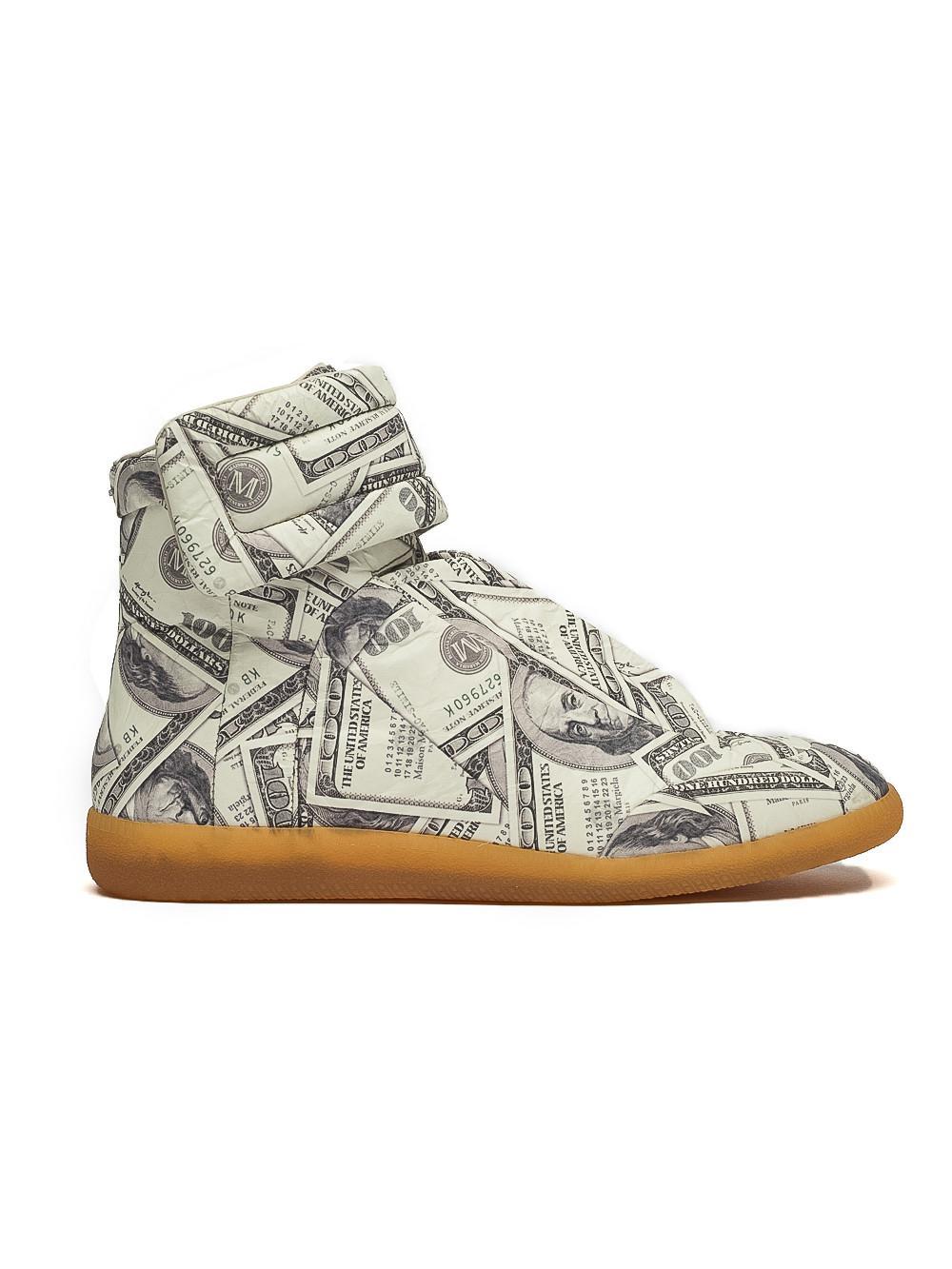 dollar print Future hi-top sneakers - White Maison Martin Margiela 7FQAKumA