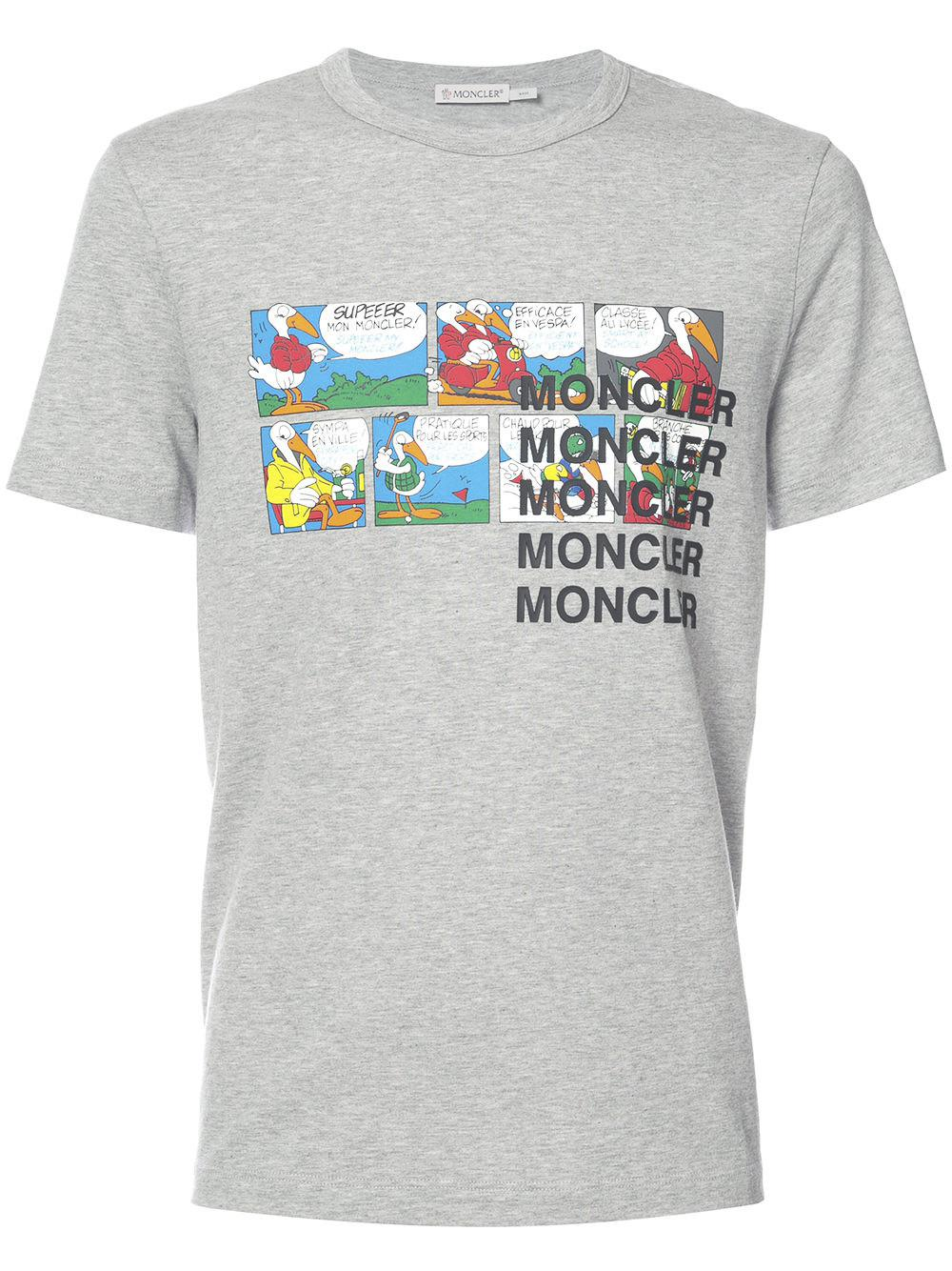 60e69bc0d7ec Lyst - Moncler Cartoon Printed T-shirt for Men - Save 50%