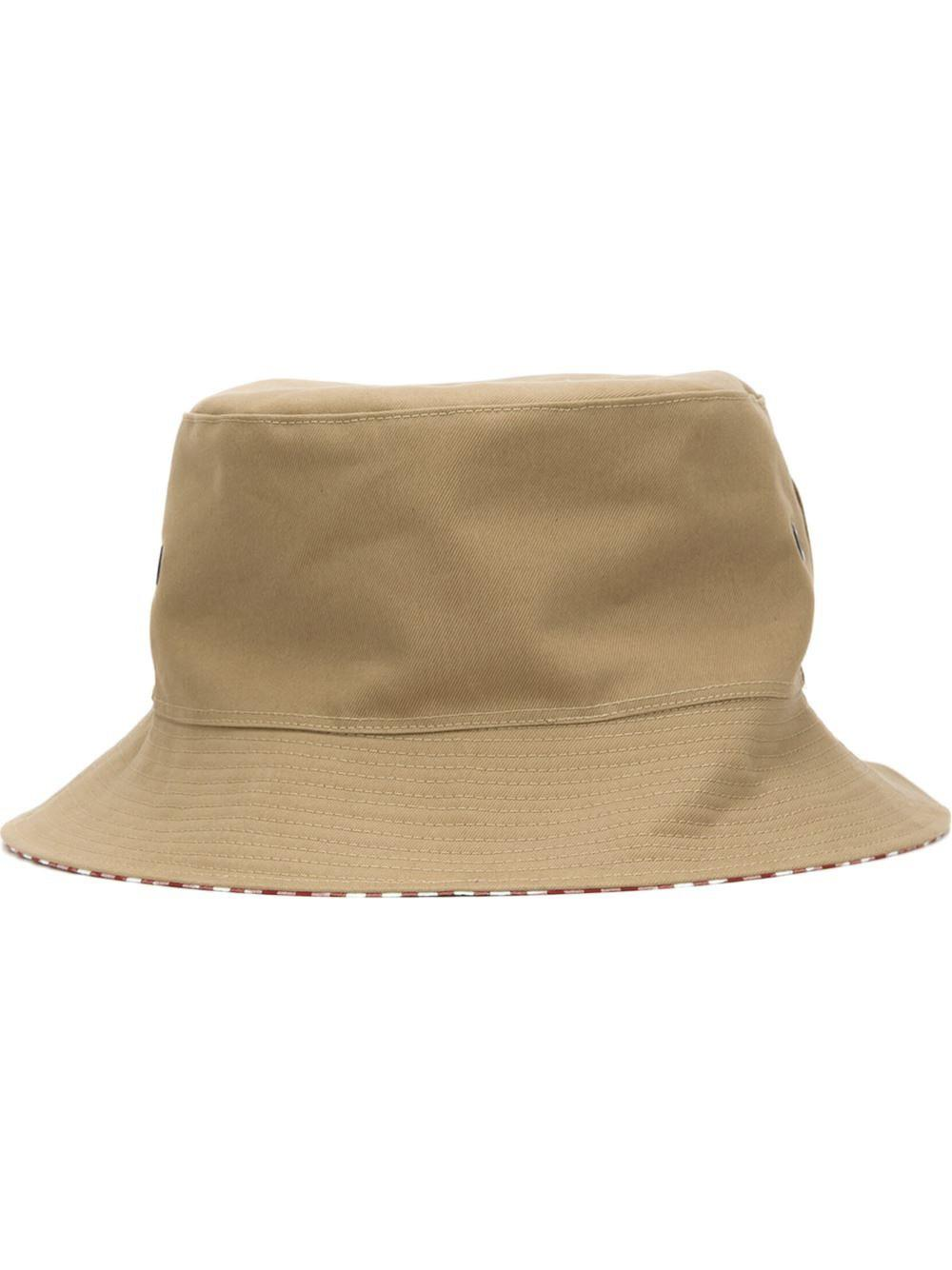 73db8748bc6b8 Lyst - Maison Michel Gingham Bucket Hat in Red for Men