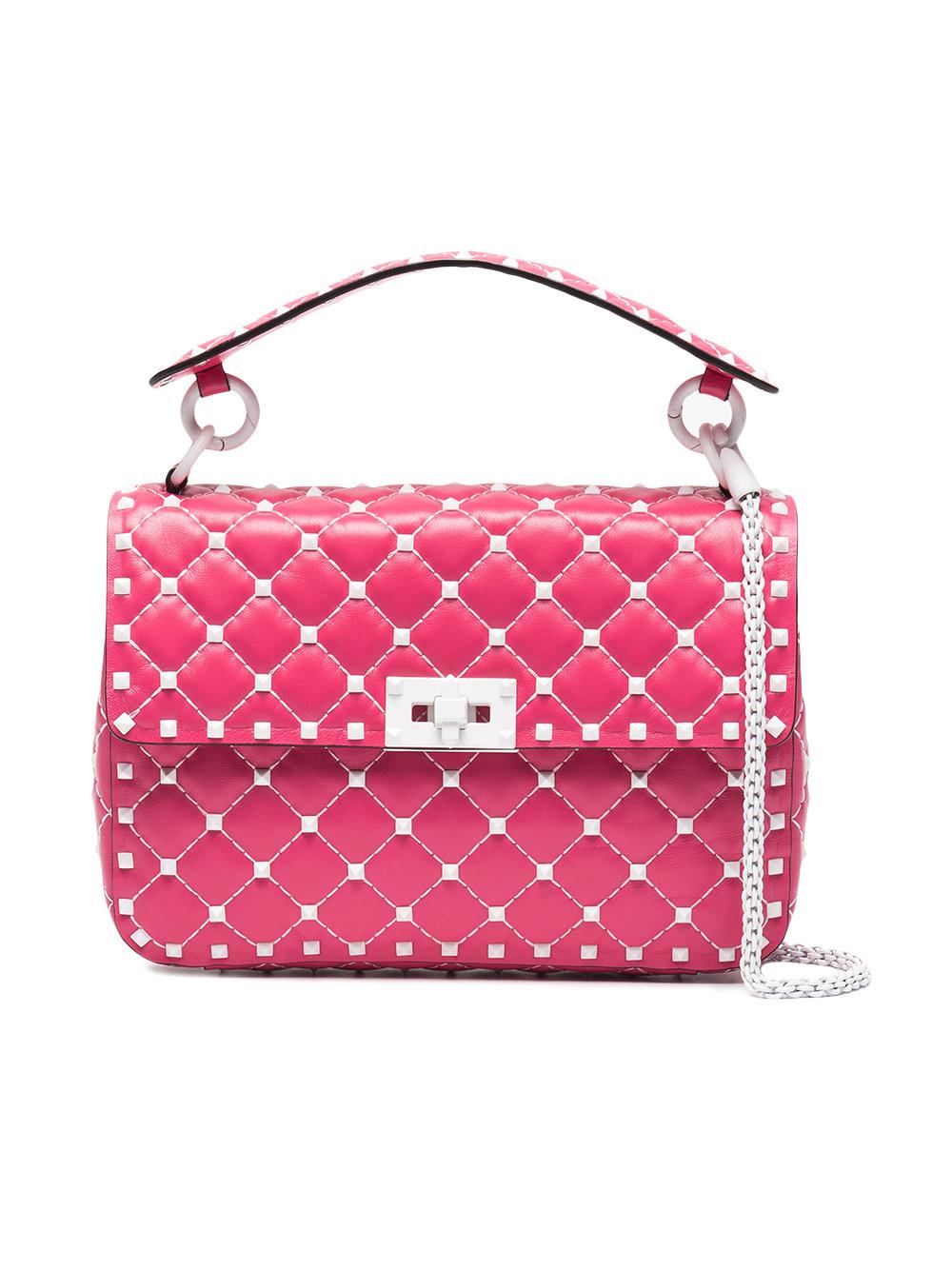 be027e5e951d Valentino Garavani Rockstud Spike Crossbody Bag in Pink - Save 1% - Lyst
