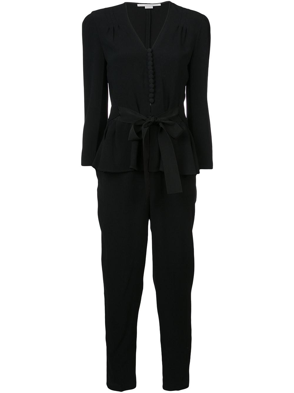 e01e269a351a Lyst - Stella McCartney Belted Jumpsuit in Black