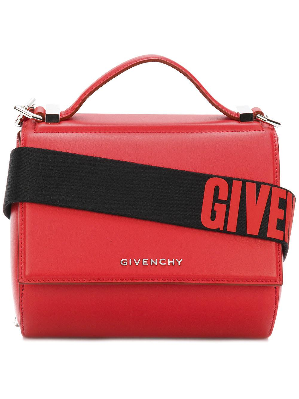 7444385a6ce3 Givenchy Pandora Box Mini Shoulder Bag in Red - Lyst