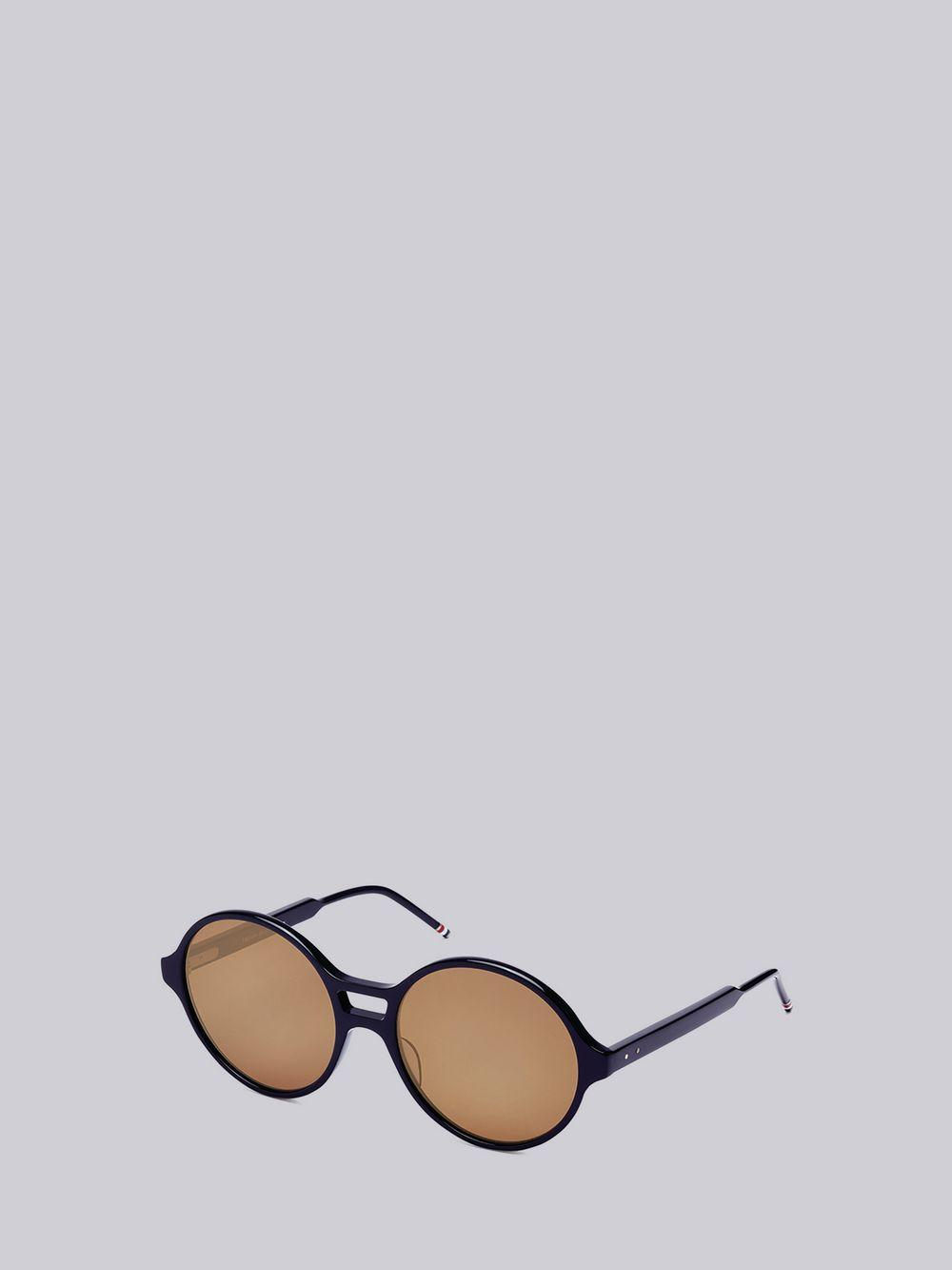 f1fe78e6120 Thom Browne Round Dark Brown Sunglasses in Blue - Lyst
